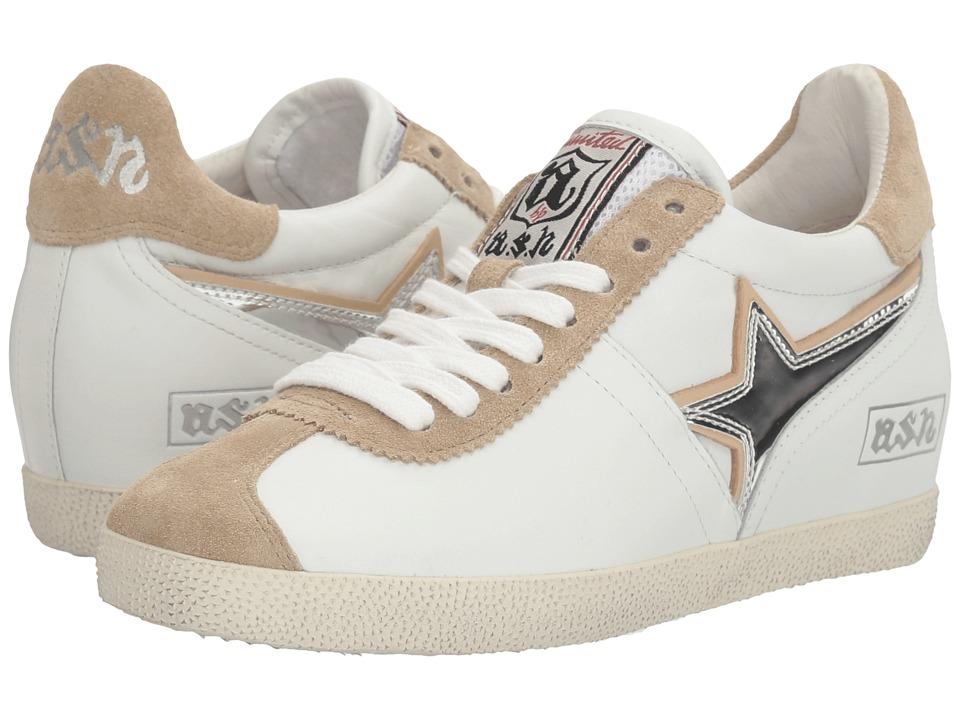 ASH - Guepard Bis (Seta/White Sam Baby Softy) Women's Shoes