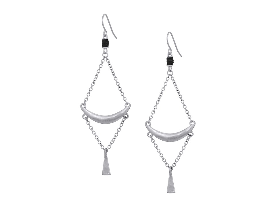 The Sak - Crescent Trapeze Earrings (Silver) Earring