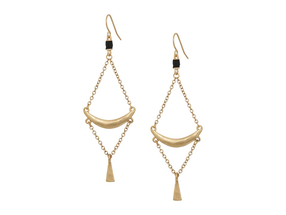 The Sak - Crescent Trapeze Earrings (Gold) Earring