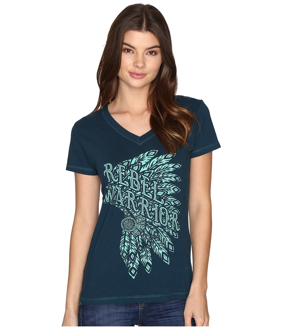 Cruel - Cotton Jersey V-Neck Tee (Teal) Women's T Shirt