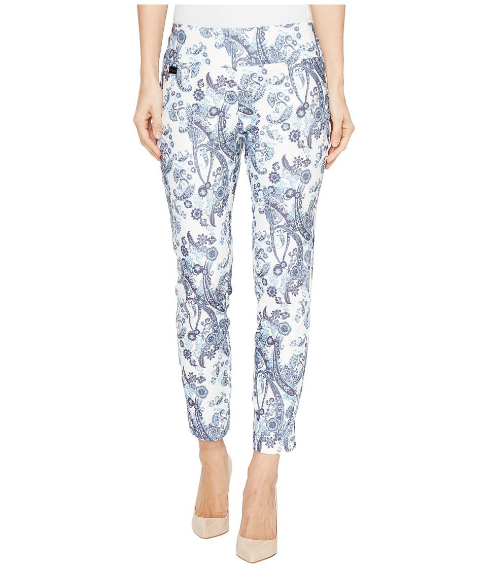 Lisette L Montreal - Rhapsody Print Crop Ankle Pants (Palm Beach Blue) Women's Casual Pants