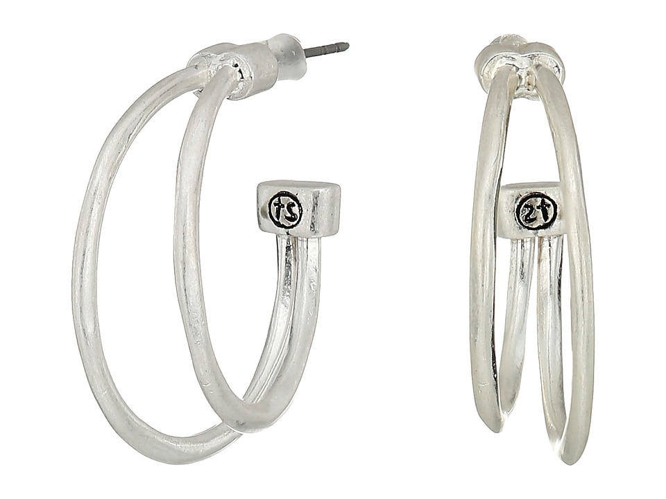 The Sak - Split Hoop Earrings (Silver) Earring