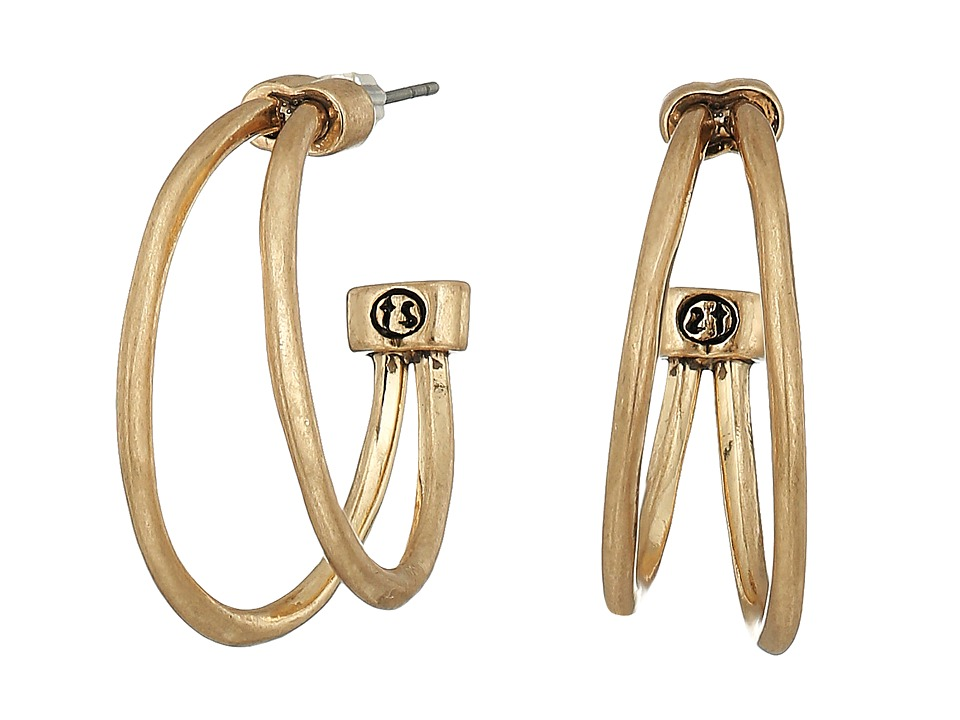 The Sak - Split Hoop Earrings (Gold) Earring