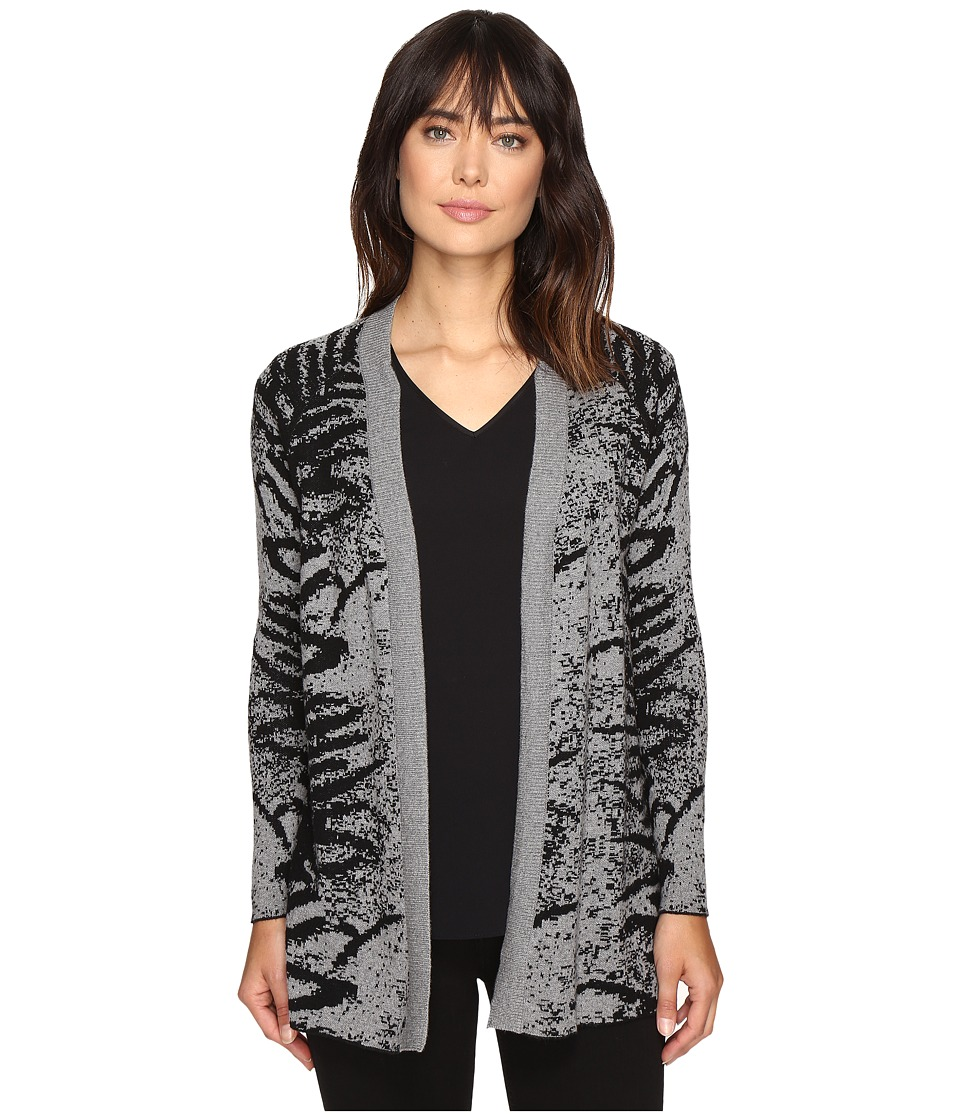 Calvin Klein Jeans - 12GG Jaquard Cardi (Black) Women's Sweater