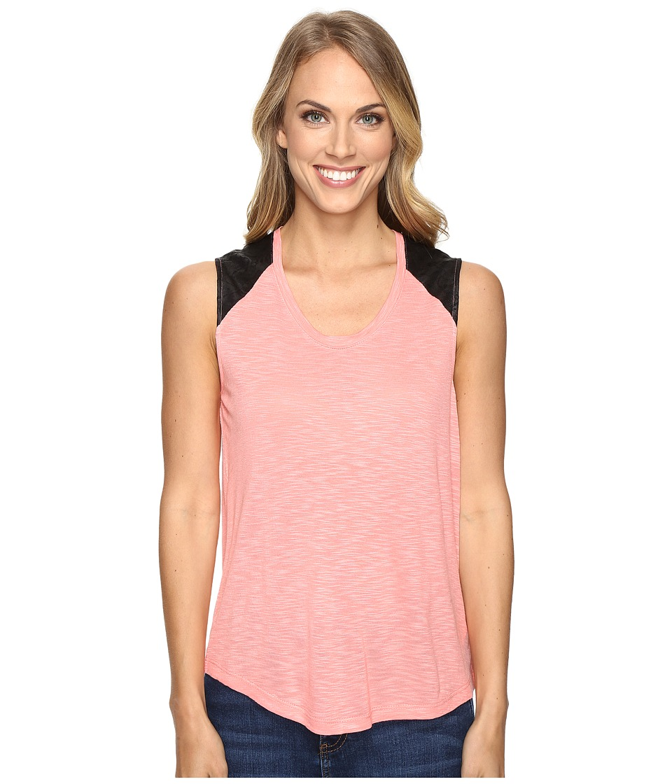 Calvin Klein Jeans - Lace Pieced Sleeveless (Shell Pink) Women's Sleeveless