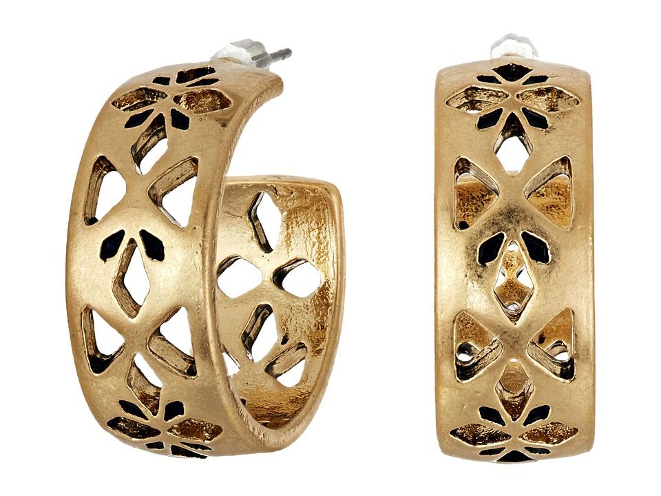 The Sak - Pierced Hoop Earrings (Gold) Earring