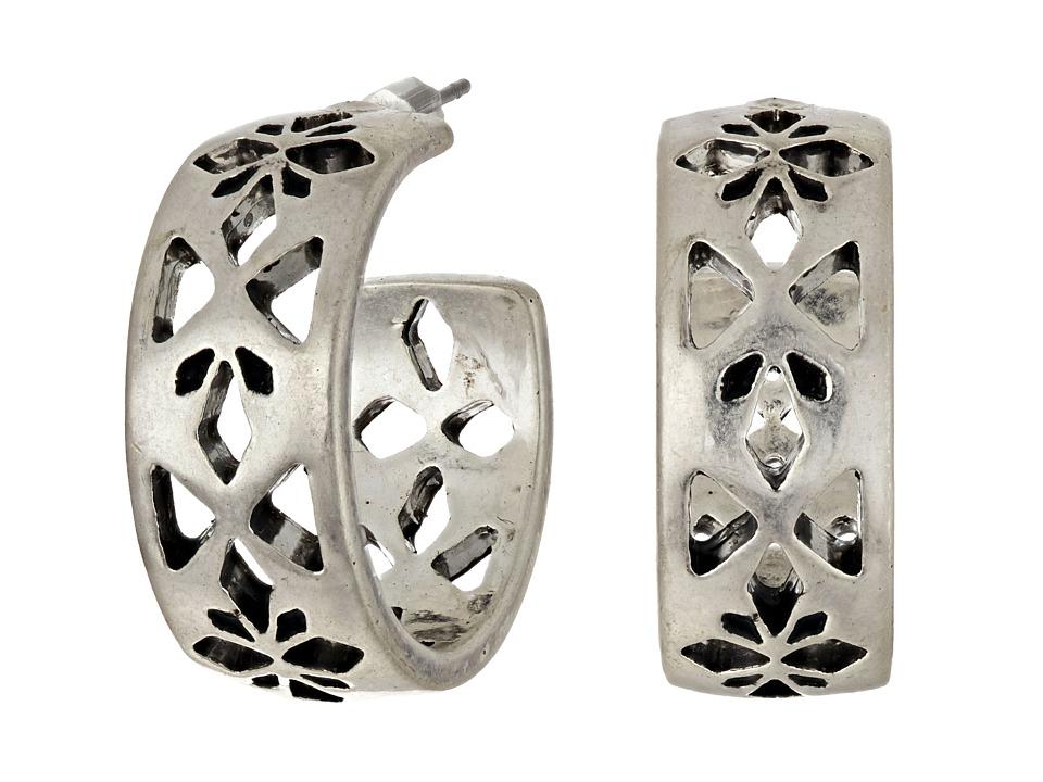 The Sak - Pierced Hoop Earrings (Silver) Earring