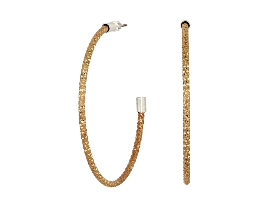 The Sak - Large Textured Hoop Earrings (Gold) Earring