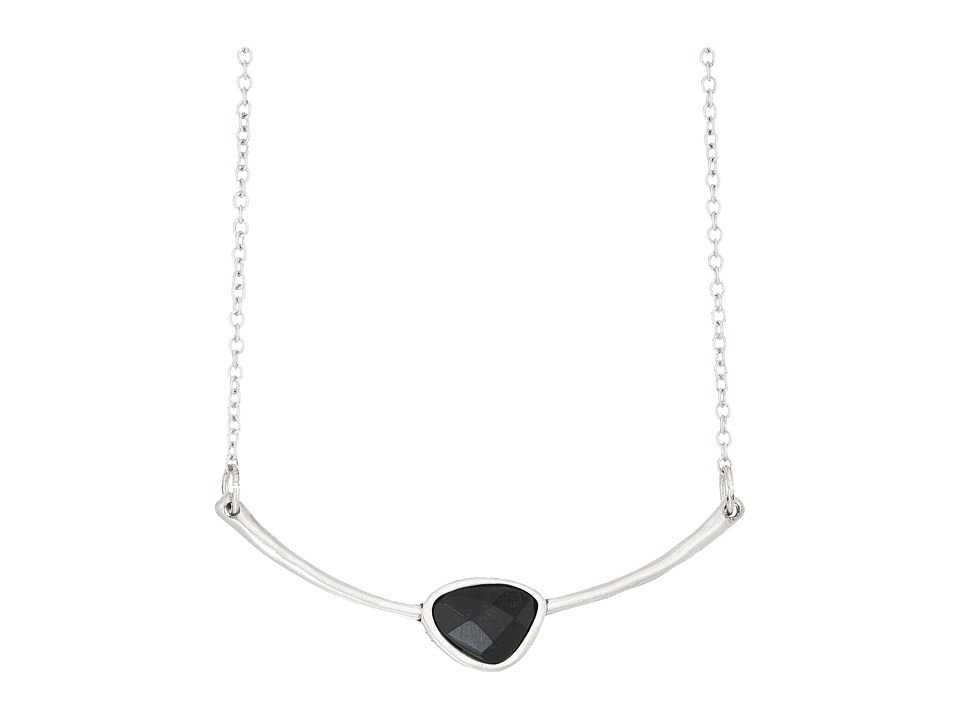 The Sak - Small Stone Smile Necklace 16 (Black/Silver) Necklace