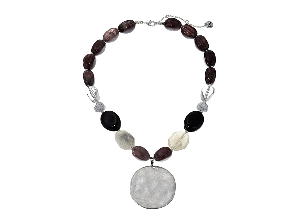 The Sak - Color Block Stone Necklace 18 + 3 (Multi) Necklace
