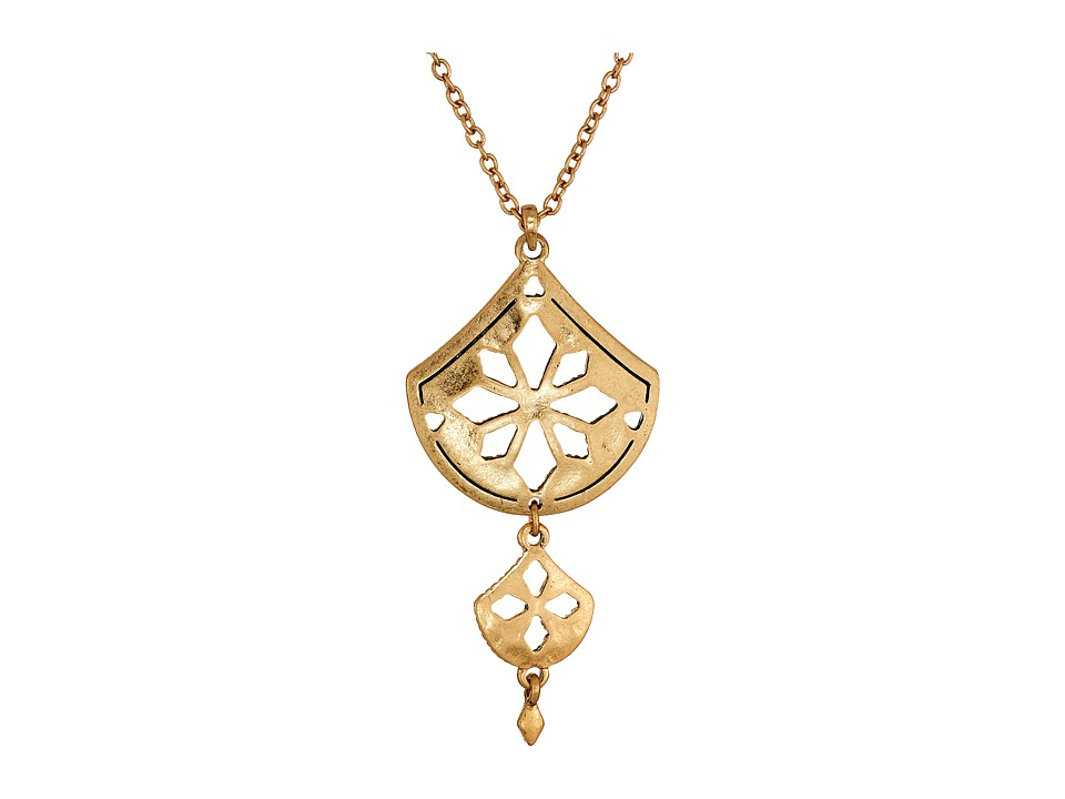 The Sak - Pierced Double Pendant Necklace 18 (Gold) Necklace