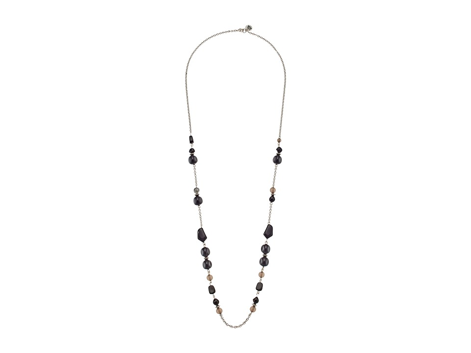 The Sak - Beaded Strand Necklace 34 (Black/Silver) Necklace
