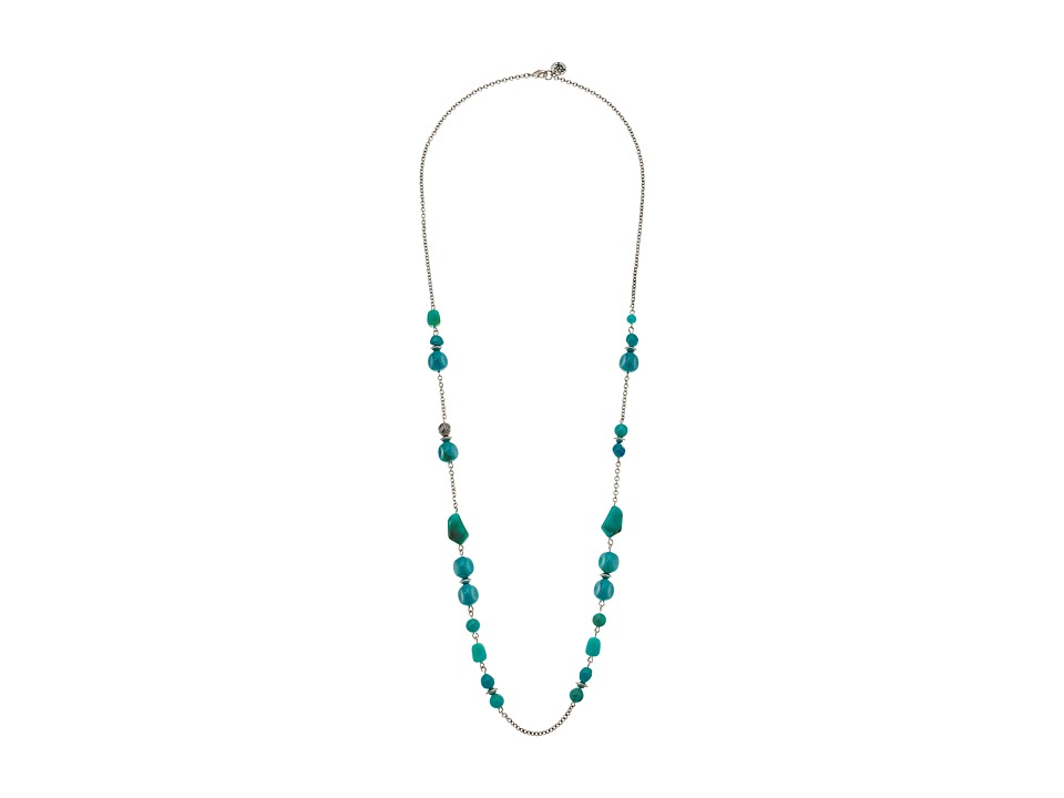The Sak - Beaded Strand Necklace 34 (Turquoise) Necklace