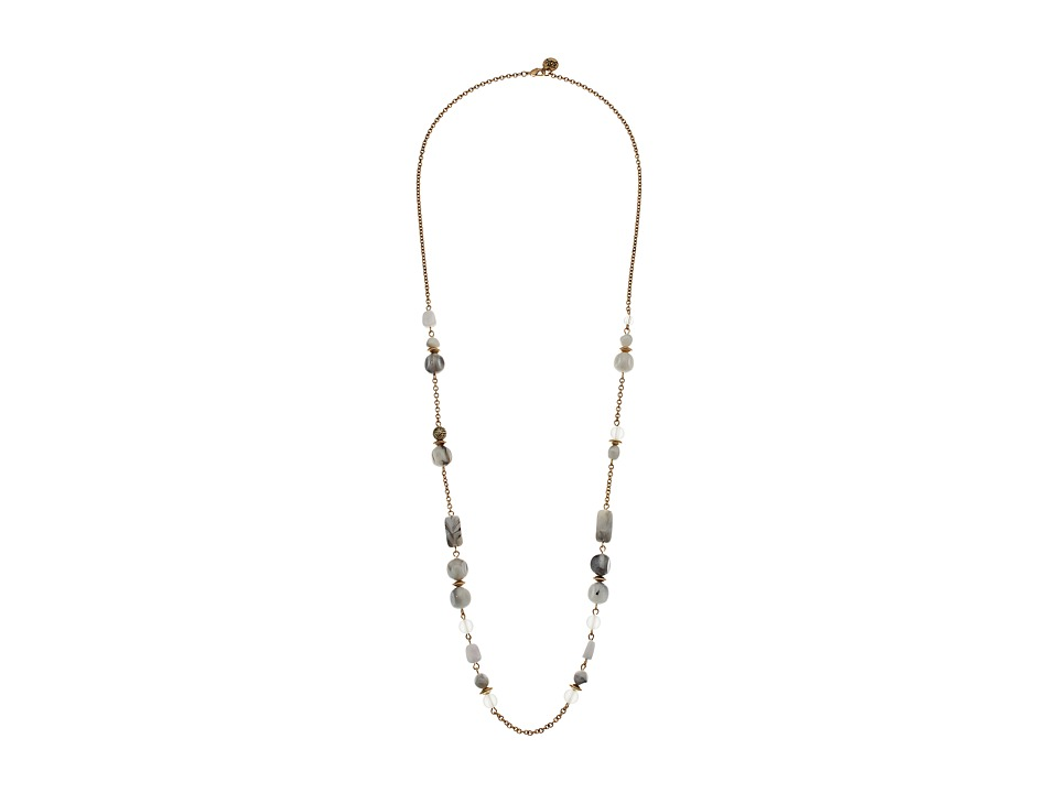 The Sak - Beaded Strand Necklace 34 (White) Necklace