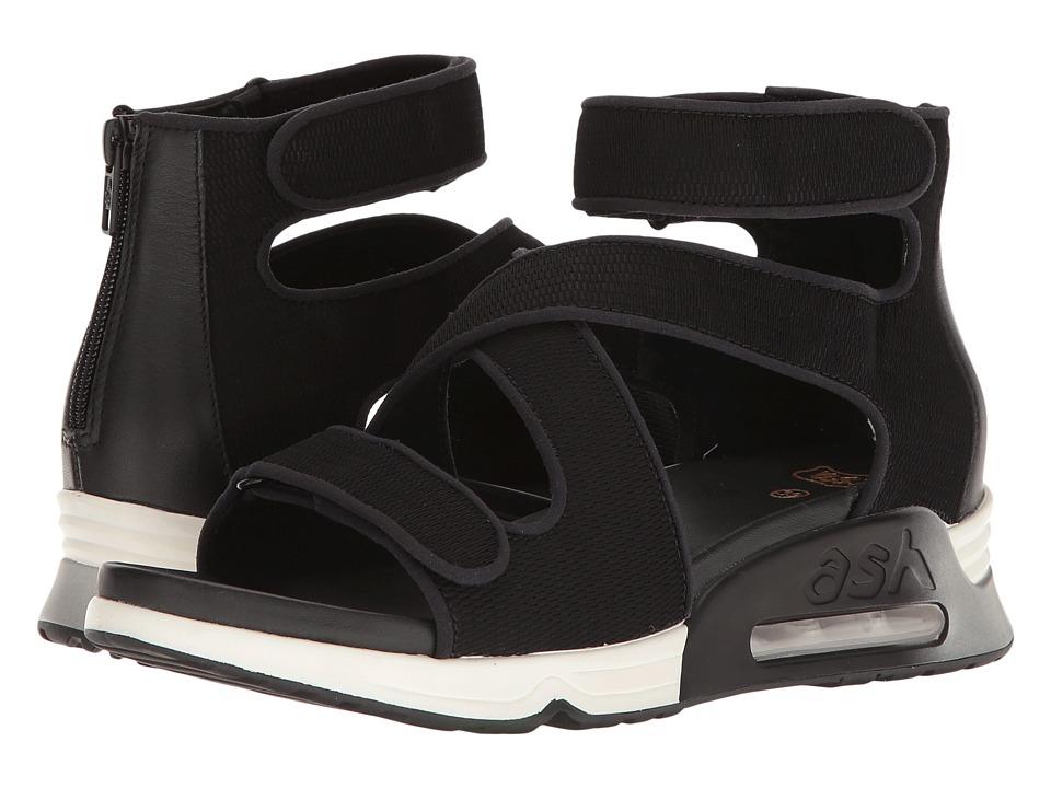 ASH - Lips (Black/Black Satin Net/Stretch) Women's Shoes