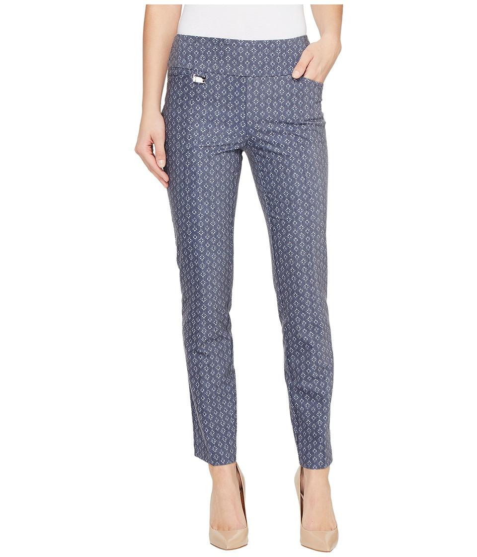 Lisette L Montreal - Tiki Print Ankle Pants (Denim Blue) Women's Casual Pants