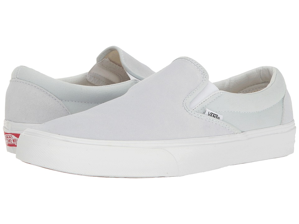Vans - Classic Slip-Ontm ((Suede/Canvas) Illusion Blue/True White) Skate Shoes