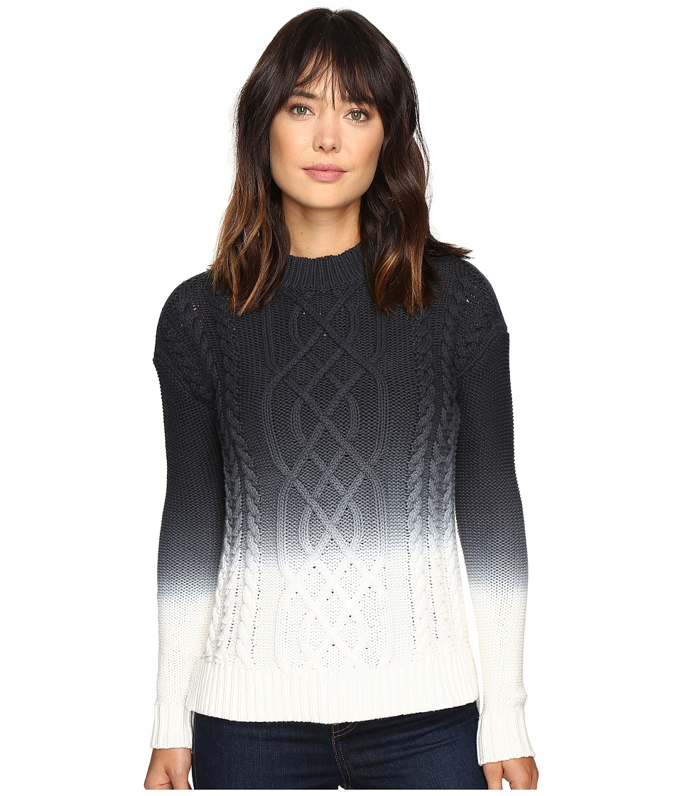Calvin Klein Jeans 3GG Ombre Cable Sweater (Night Navy) Women