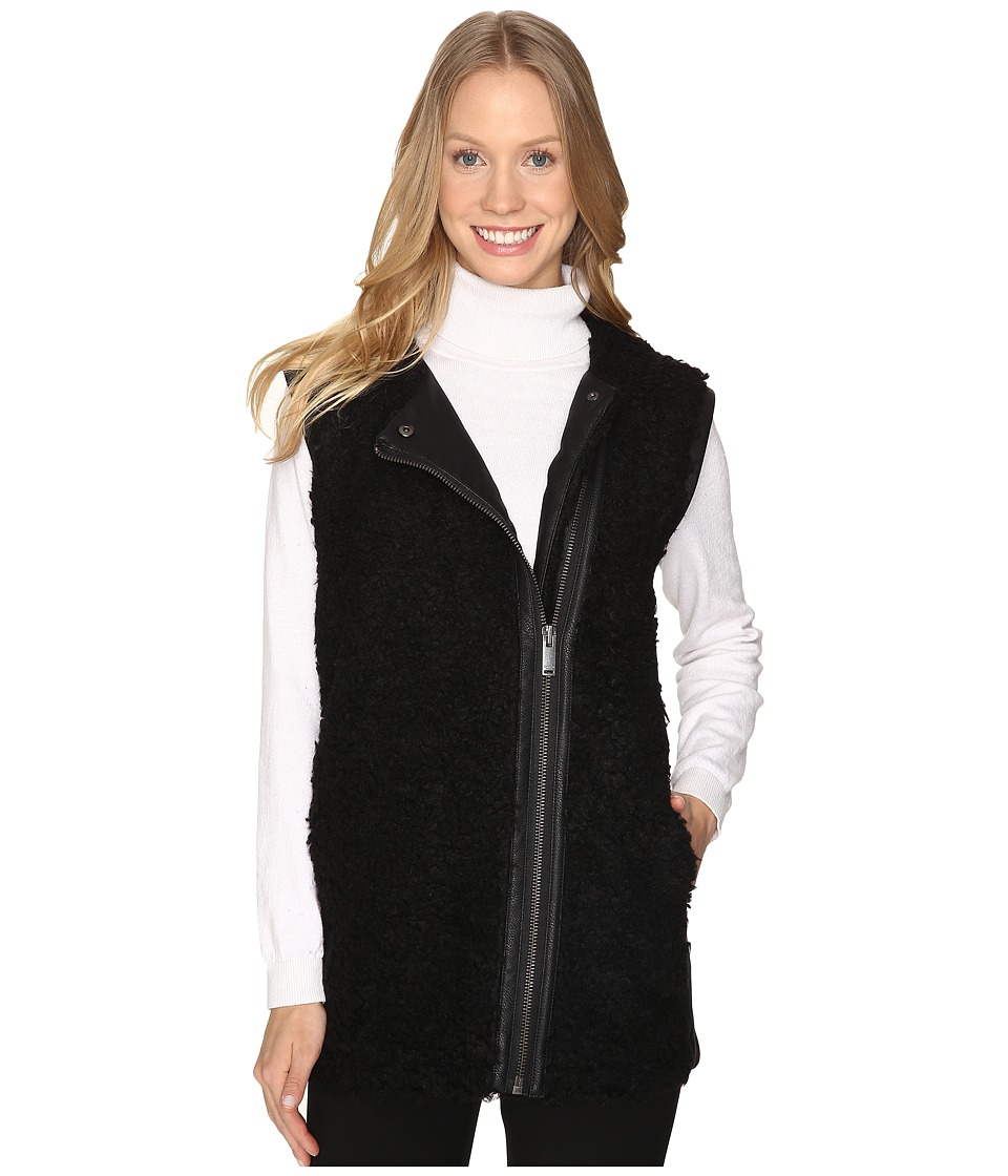 Calvin Klein Jeans - Oversized Shearling Outerwear (Black) Women's Coat