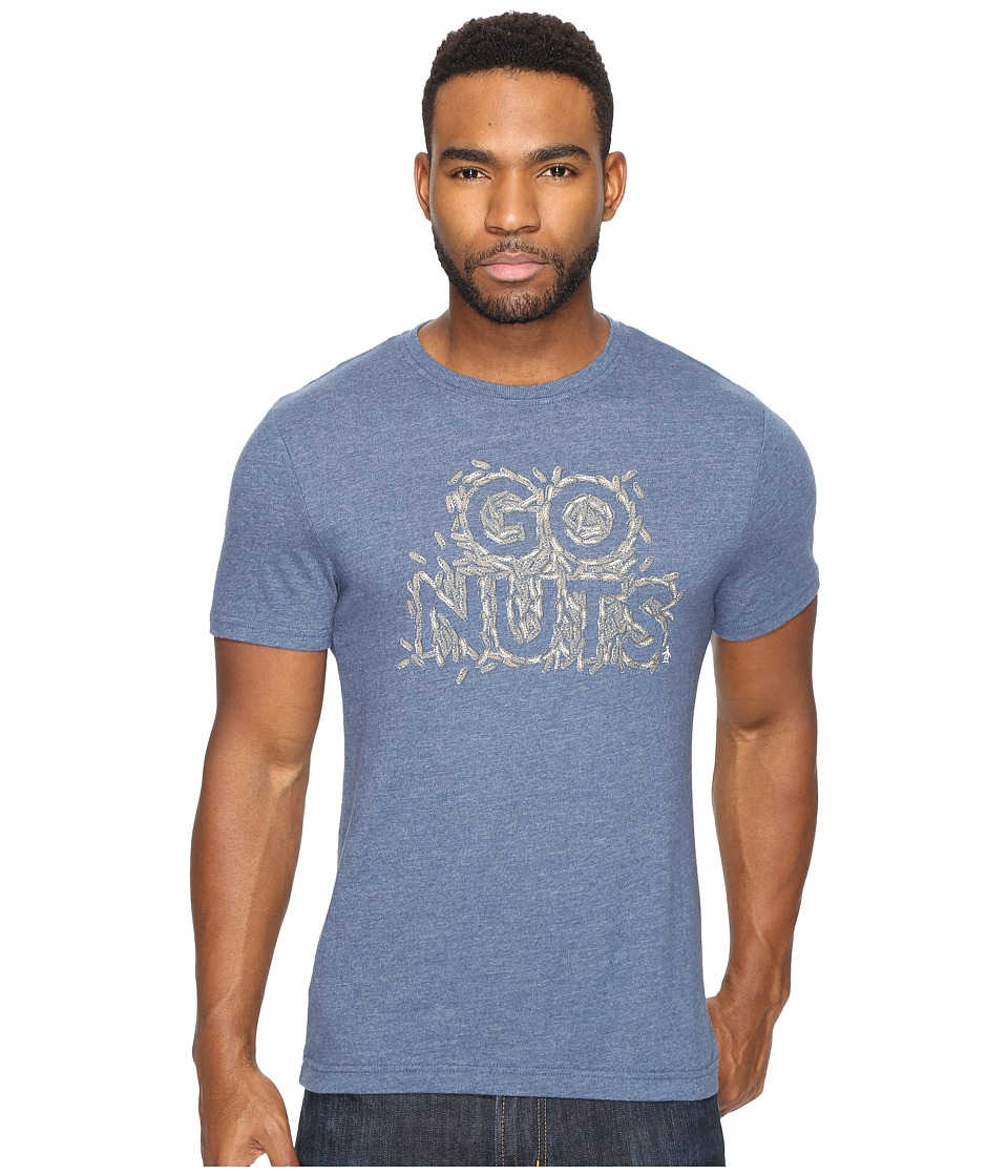 Original Penguin Short Sleeve Go Nuts Tee (Dark Denim) Men