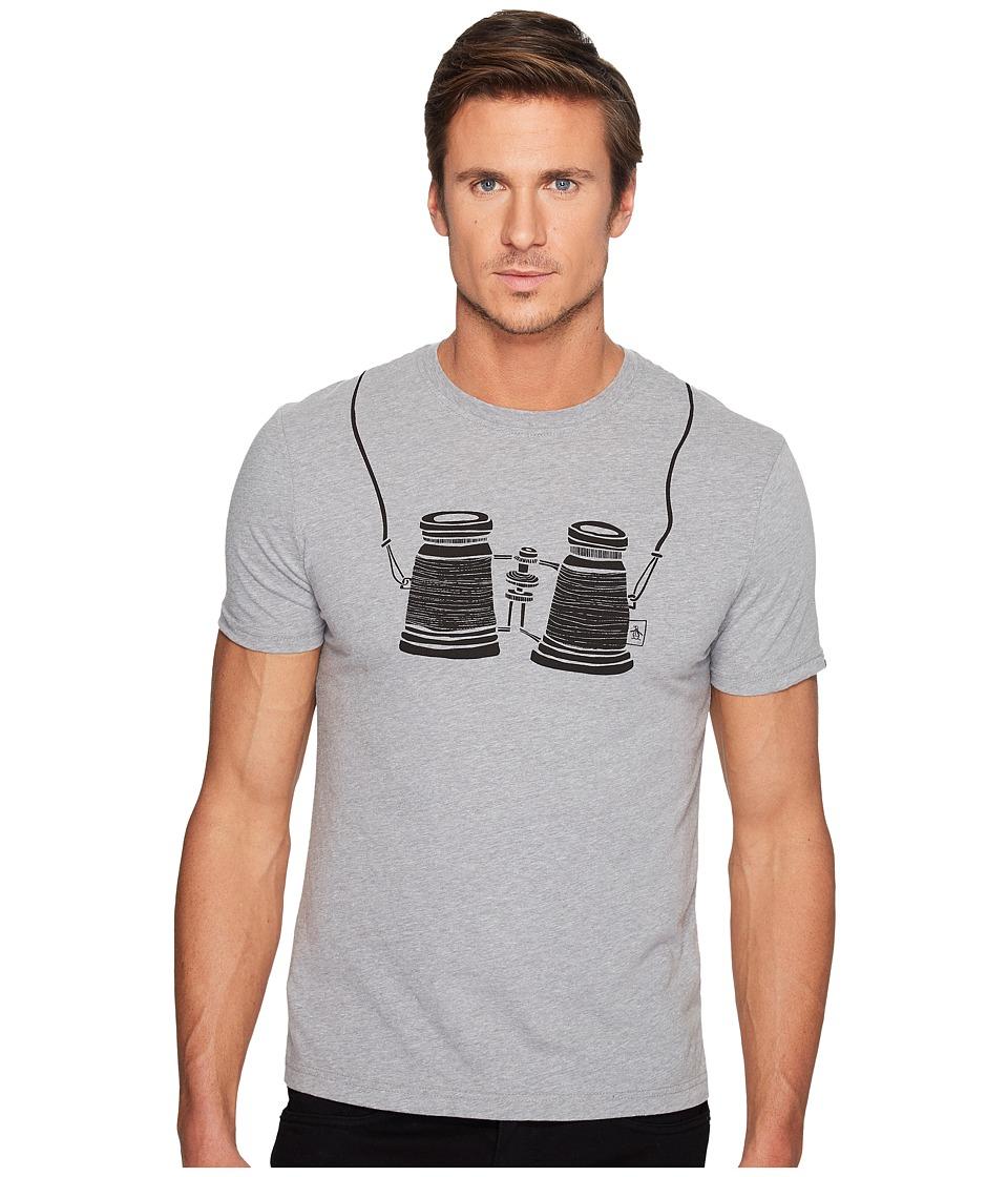Original Penguin - Short Sleeve Binoculars Tee (Athletic Grey Heather) Men's T Shirt