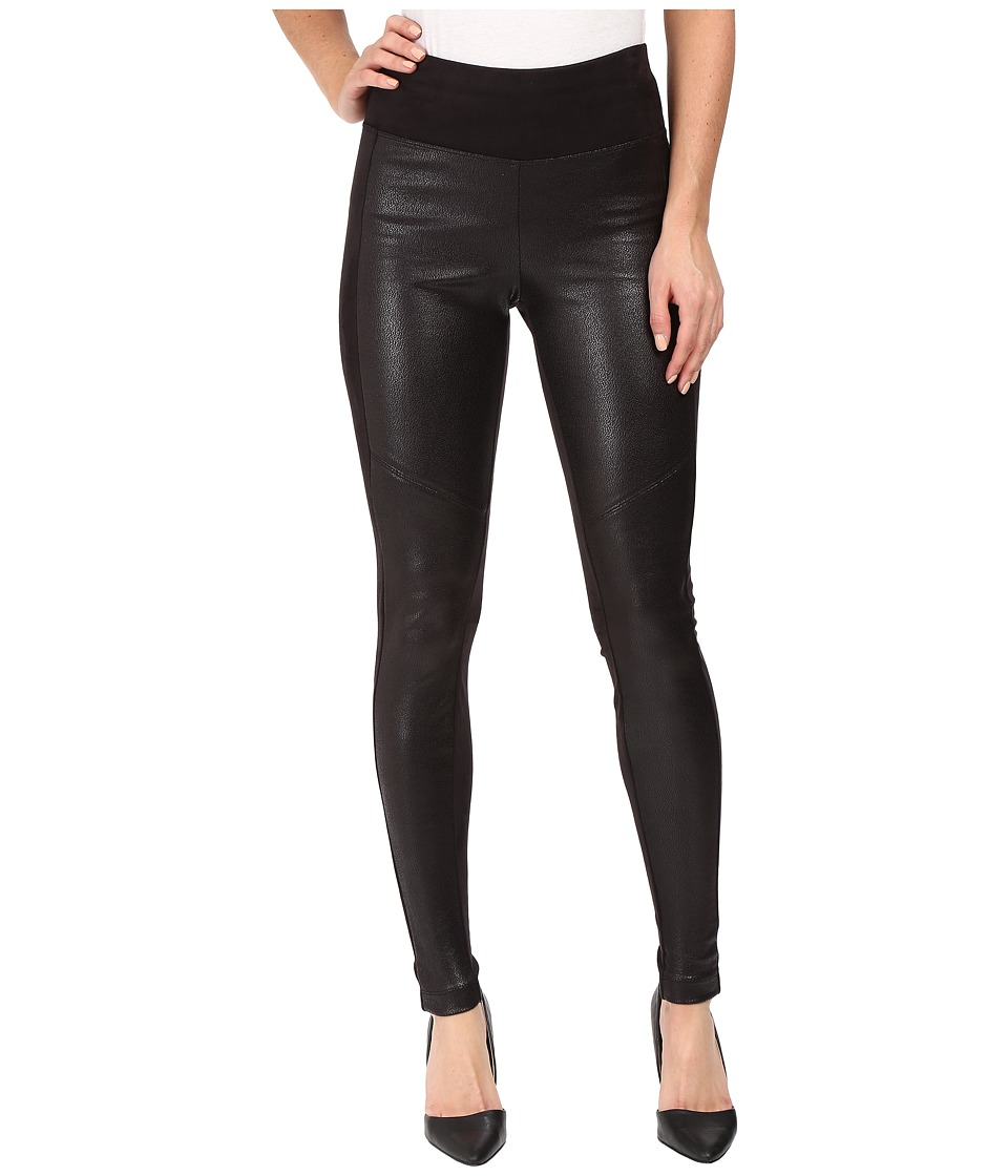 Hale Bob - Coated Ultra Suede Leggings (Black) Women's Casual Pants