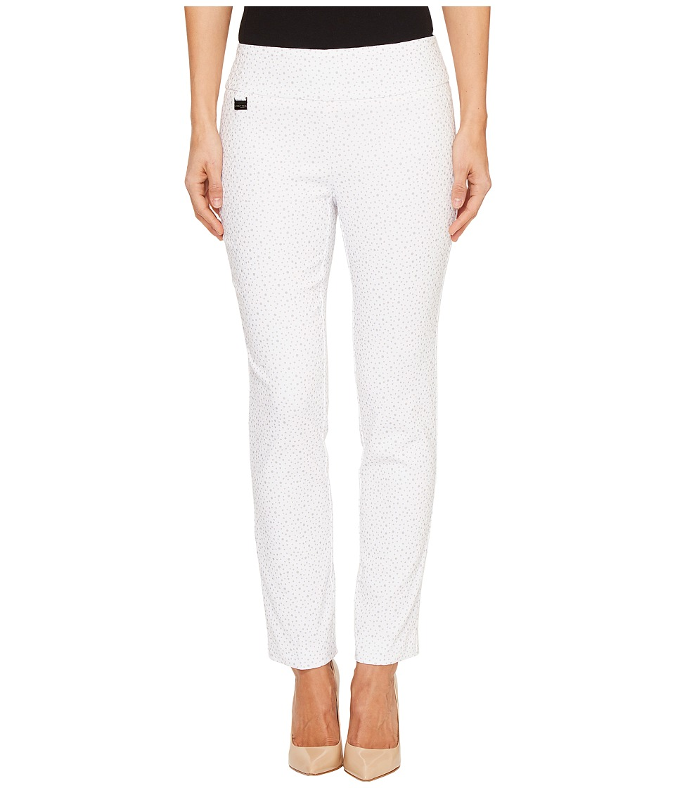 Lisette L Montreal - Cosmic Dot Jacquard Ankle Pants (White) Women's Casual Pants