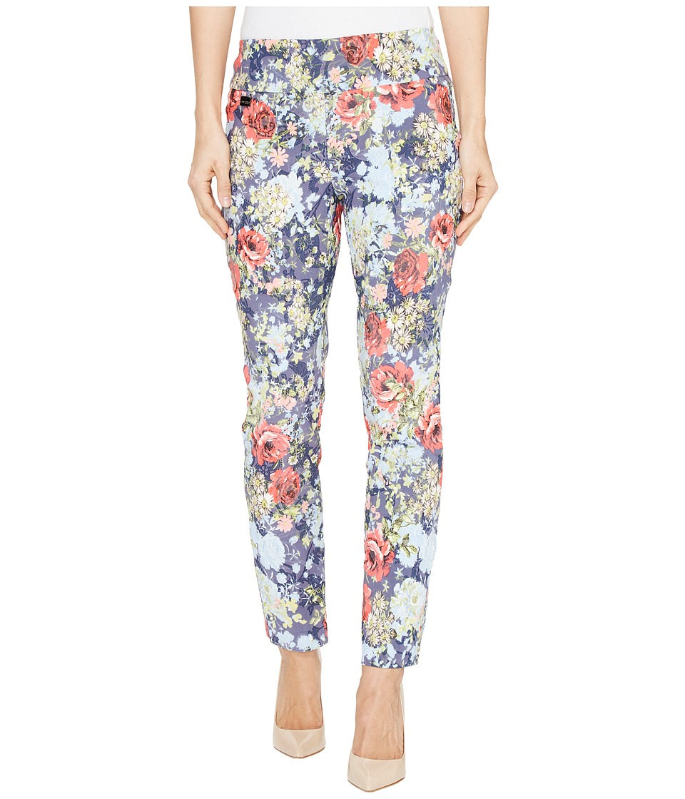 Lisette L Montreal - Rose Daisy Jacquard Ankle Pants (Palm Beach Blue) Women's Casual Pants