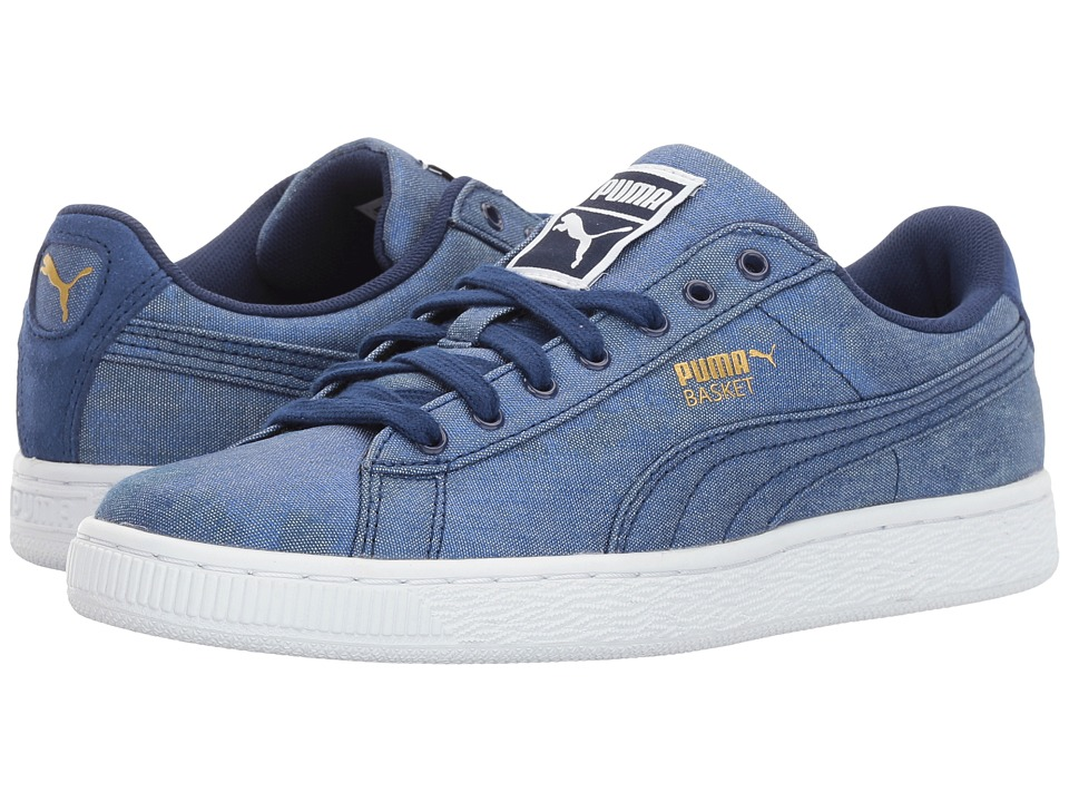 PUMA - Basket Denim (Twlight Blue/Puma White) Women's Shoes