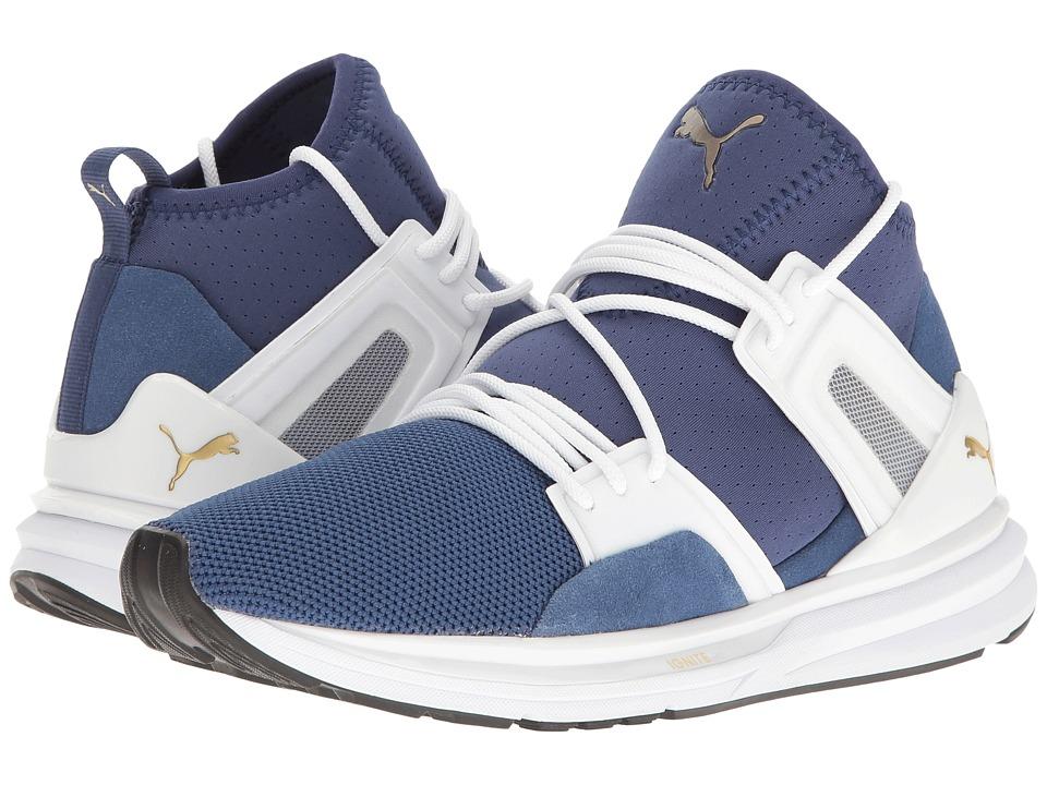 PUMA - B.O.G Limitless Hi Denim (Twlight Blue/Puma White) Women's Shoes