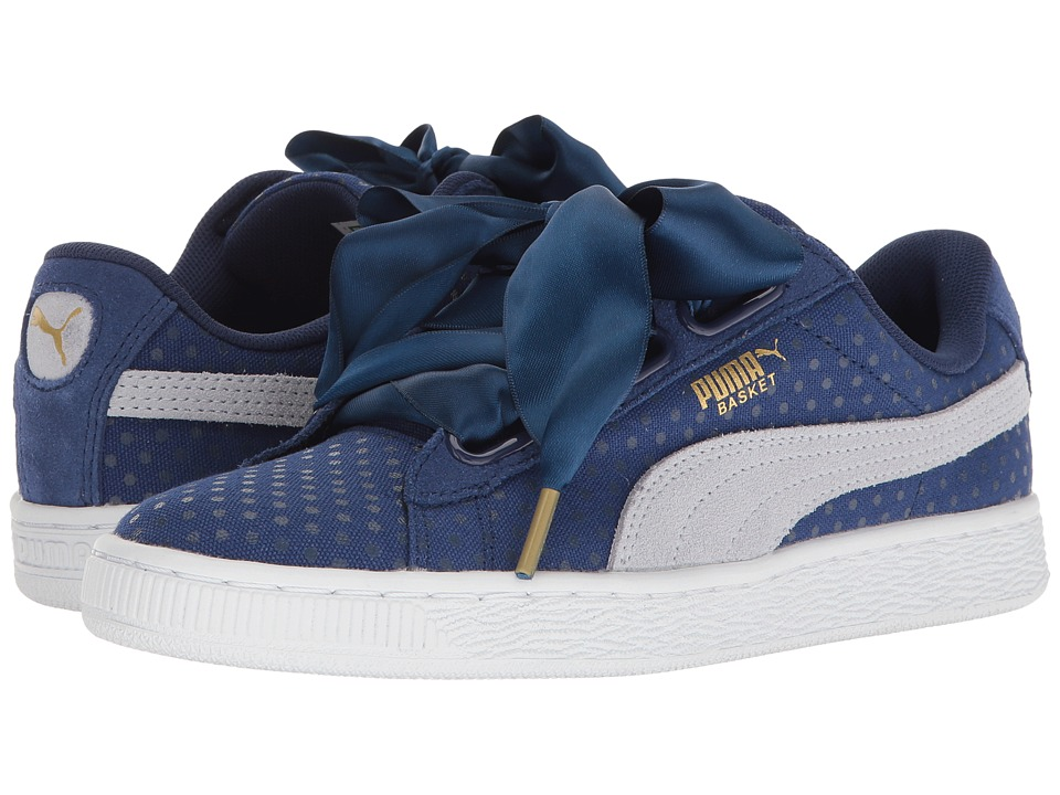 PUMA - Basket Heart Denim (Twlight Blue/Halogen Blue) Women's Shoes