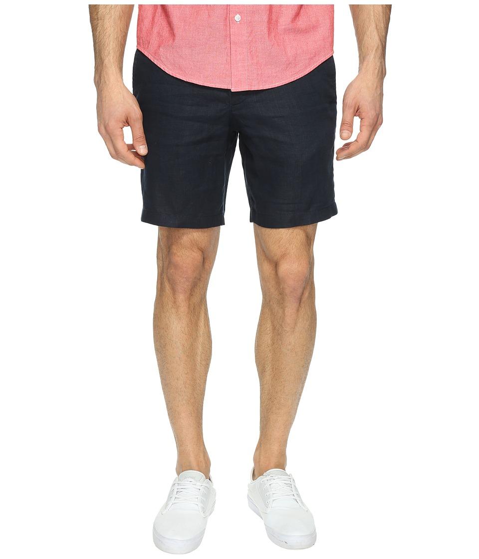 Original Penguin - 8 Washed Linen Shorts (Dark Sapphire) Men's Shorts
