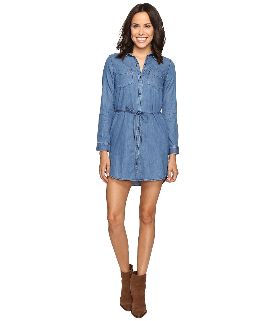 Calvin Klein Jeans - Denim Belted Shirtdress (Emily Mid Rinse) Women's Dress
