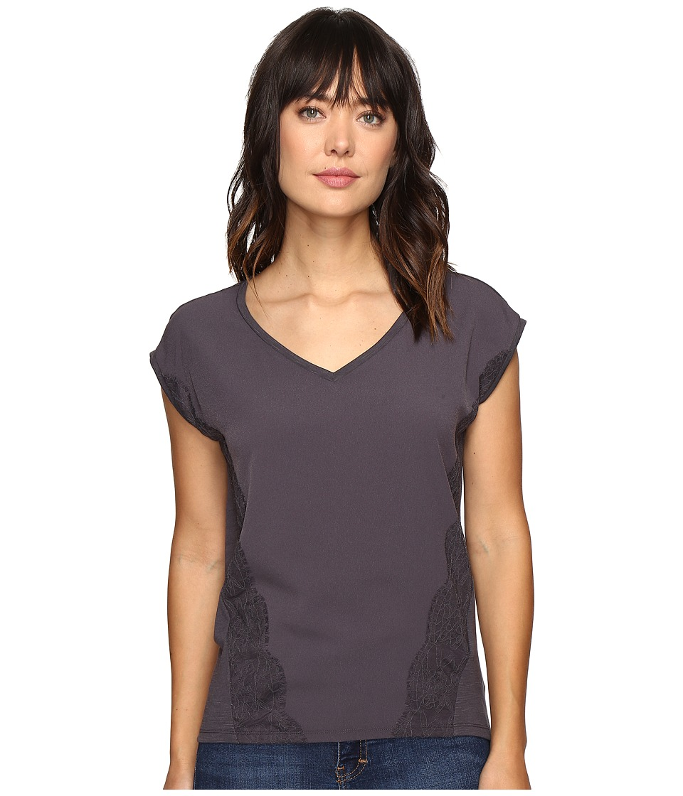 Calvin Klein Jeans - Trend Table V-Neck T-Shirt (Nine Iron) Women's T Shirt