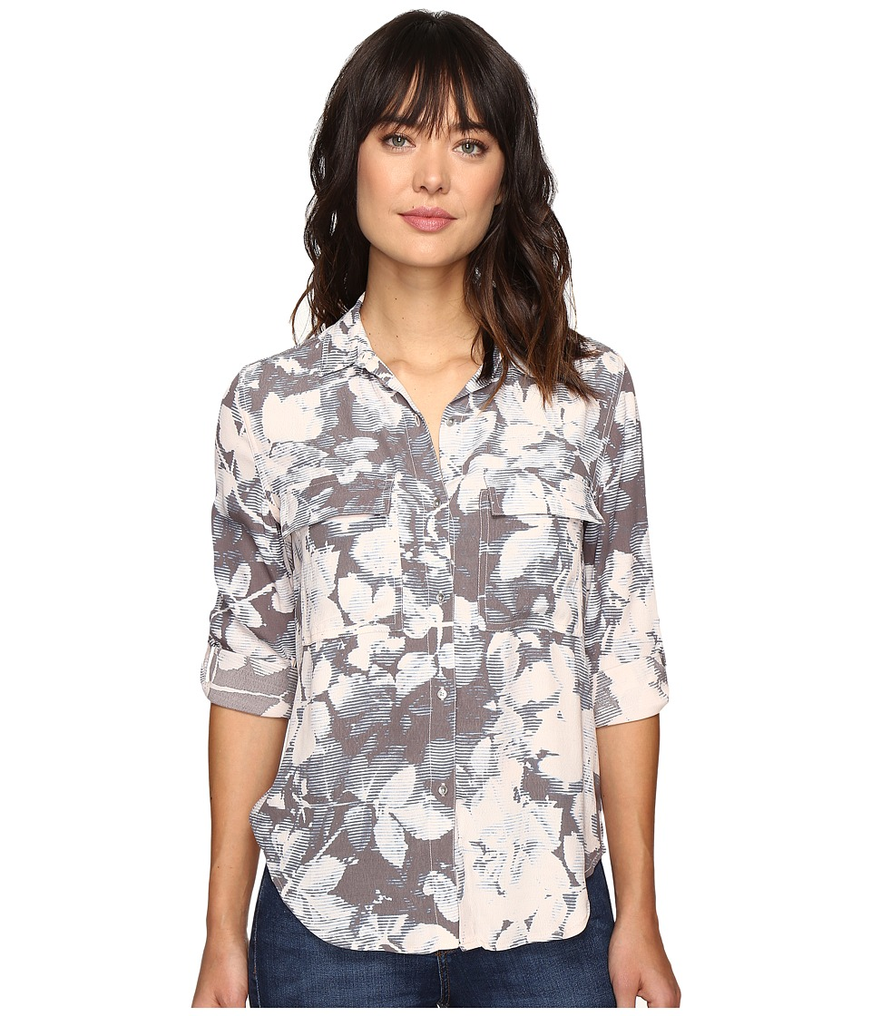 Calvin Klein Jeans - Muted Utility Printed Long Sleeve Woven Shirt (Underground) Women's Long Sleeve Button Up