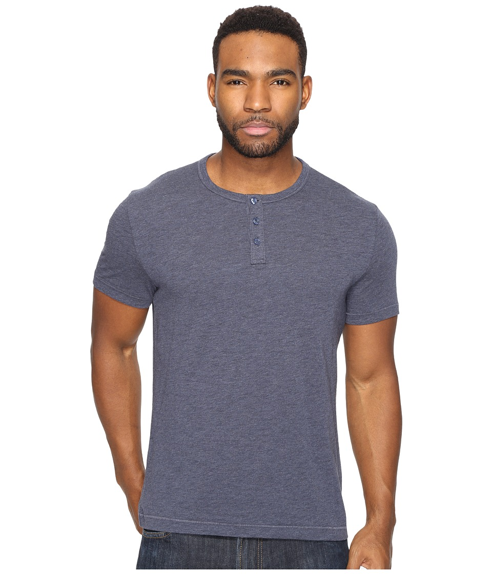 Original Penguin - Short Sleeve Bing Henley (Dark Sapphire) Men's Clothing
