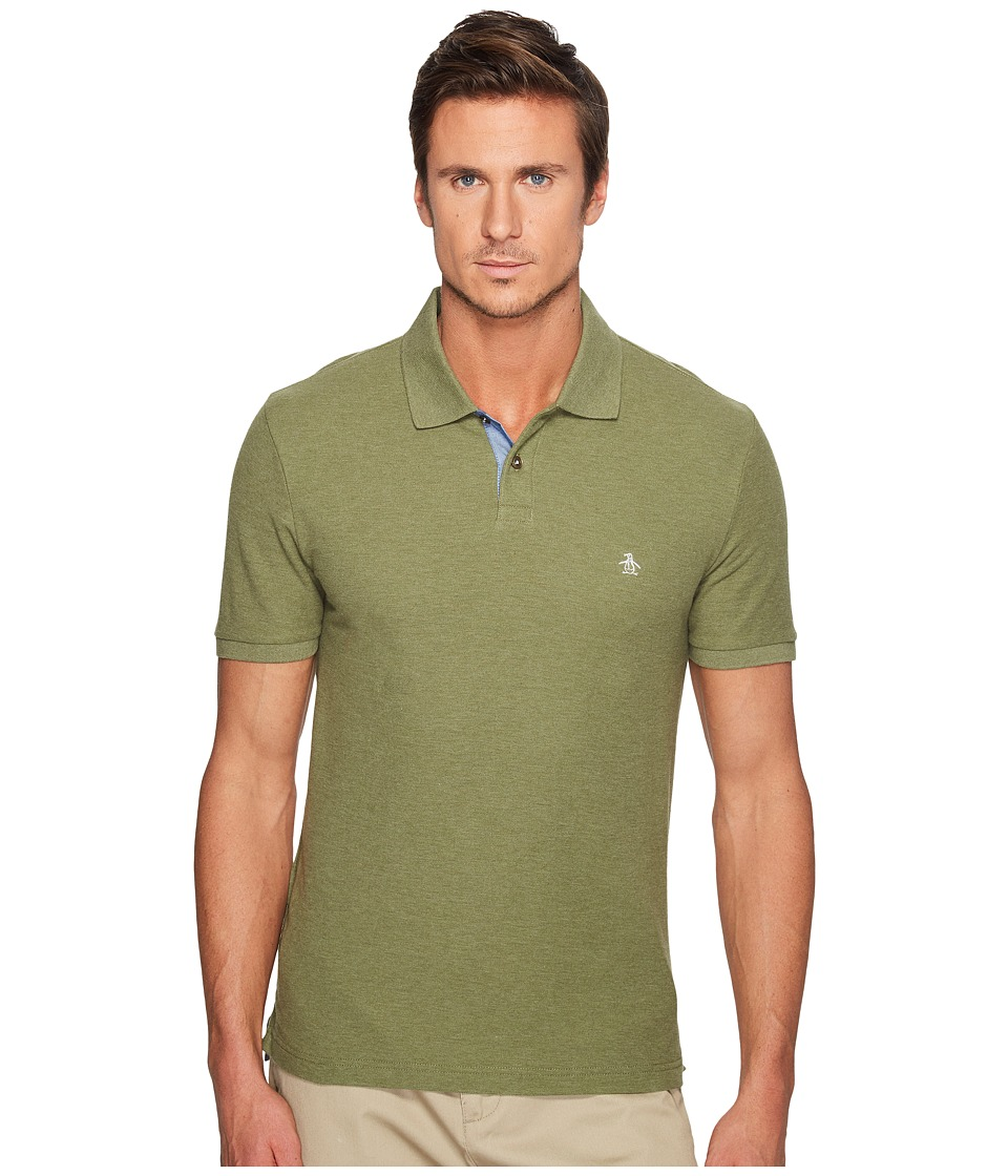 Original Penguin - Daddy-O Polo (Burnt Olive) Men's Short Sleeve Pullover