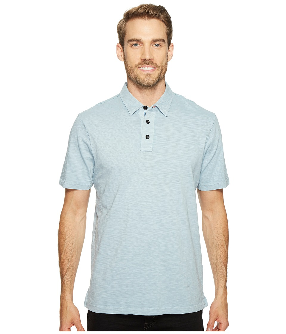 True Grit - Heritage Slub Three-Button Short Sleeve Polo Classic Fit Pigment Dyed (Denim Blue) Men's Clothing