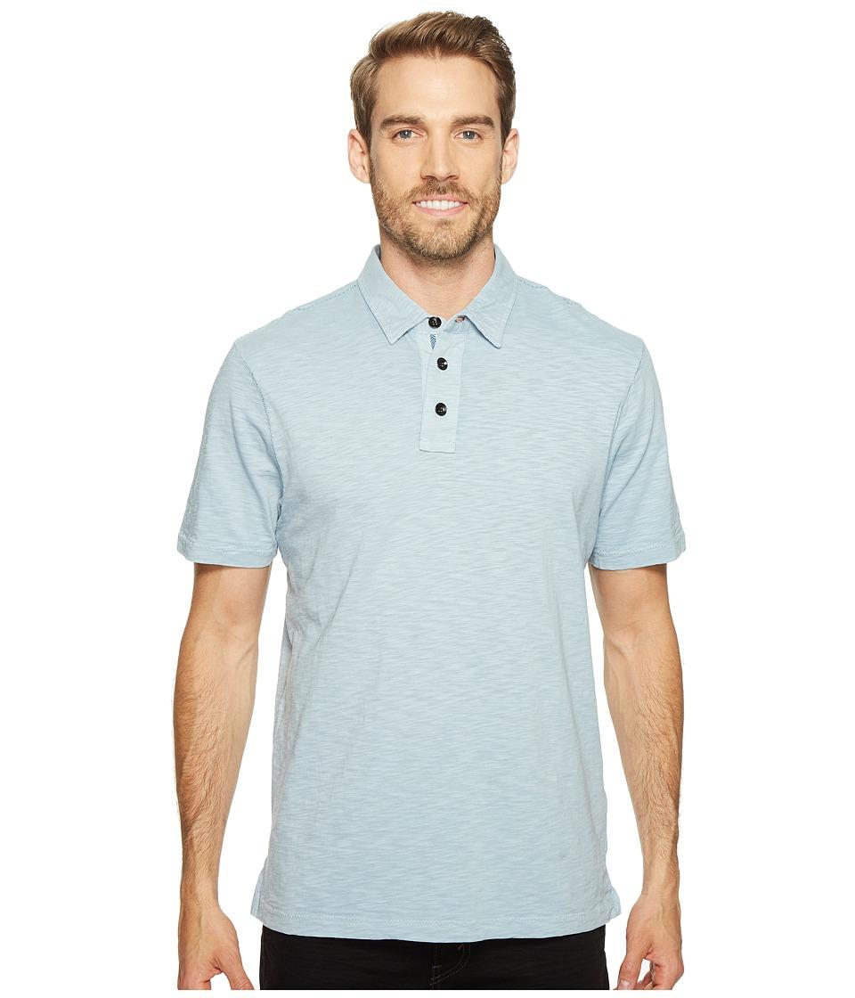 True Grit - Heritage Slub Three-Button Short Sleeve Polo Classic Fit Pigment Dyed (Denim Blue) Men's Clothing