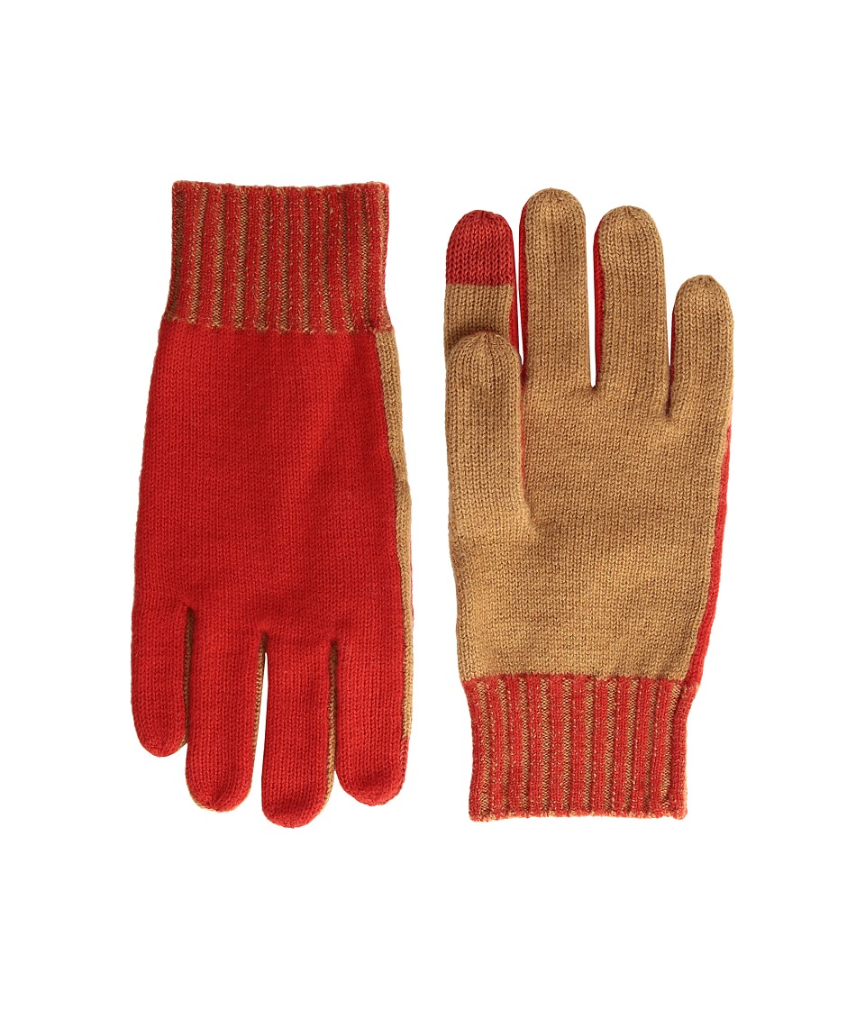 rag & bone - Lorraine Tech Tip Gloves (Red) Extreme Cold Weather Gloves