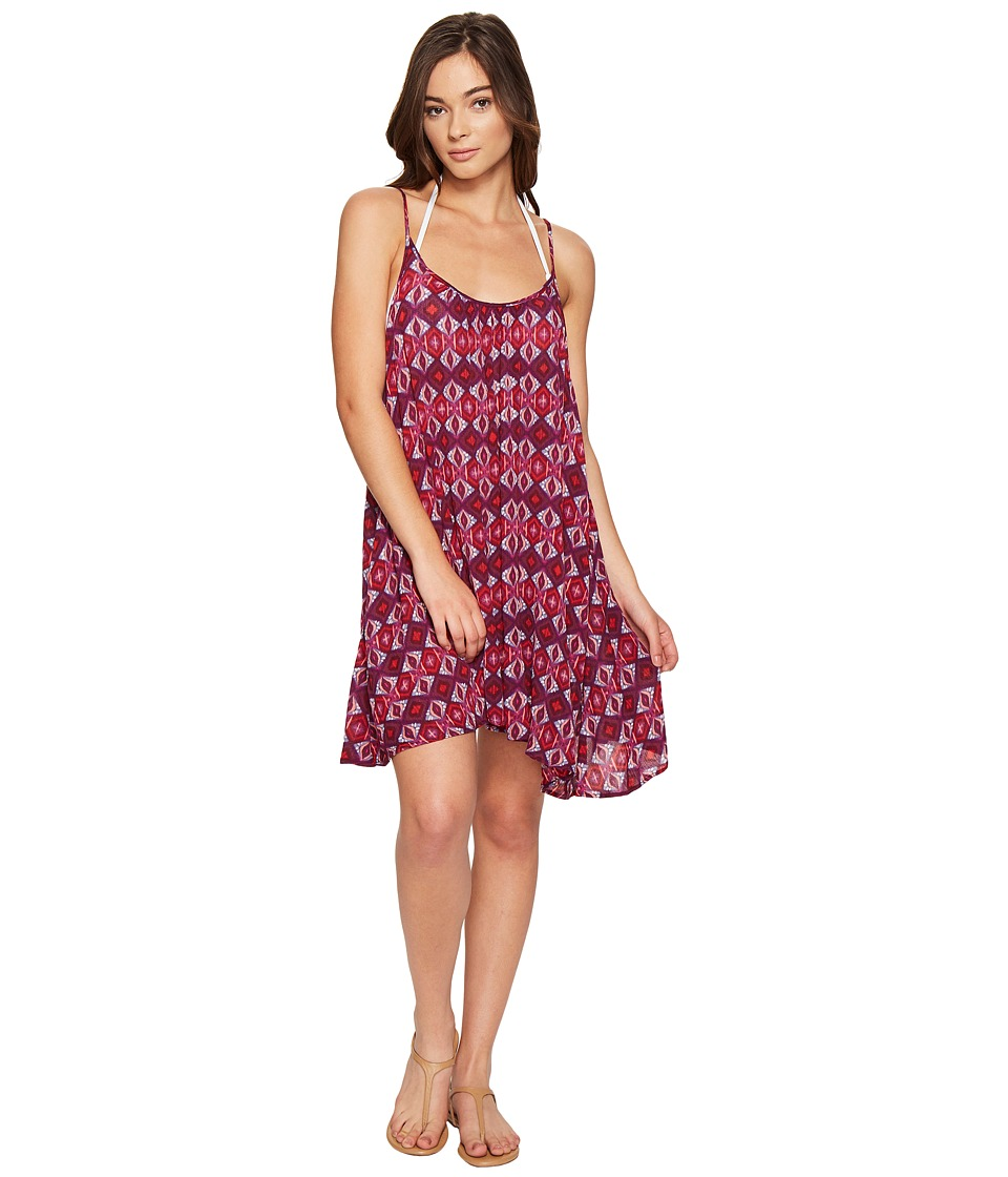 Roxy - Windy Fly Away Print Dress Cover-Up (Grape Wine Gerona Nights) Women's Swimwear