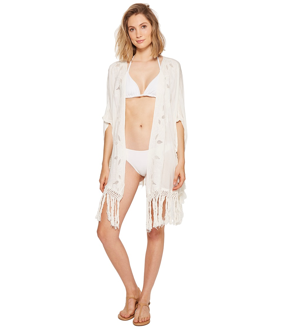 Roxy - Desert Oasis Kimono Cover-Up (Marshmallow) Women's Swimwear