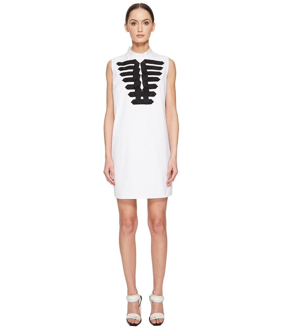 DSQUARED2 - Cotton Poplin Marching Shirt Dress (White) Women's Dress