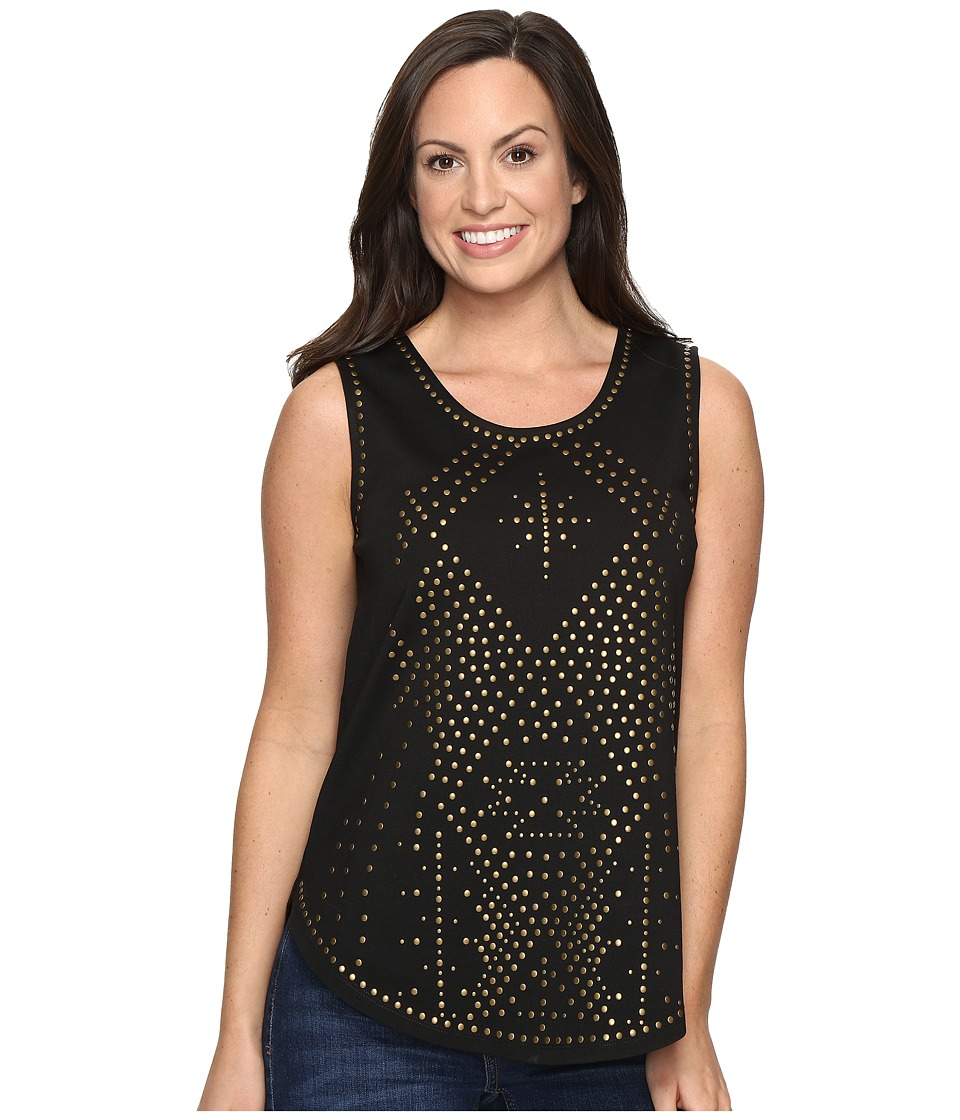 Tasha Polizzi - Star Dust Tank Top (Black) Women's Sleeveless