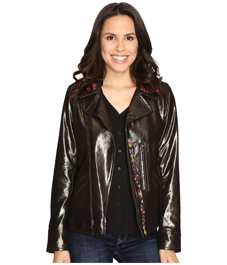 Tasha Polizzi - Brando Biker Jacket (Bronze) Women's Coat