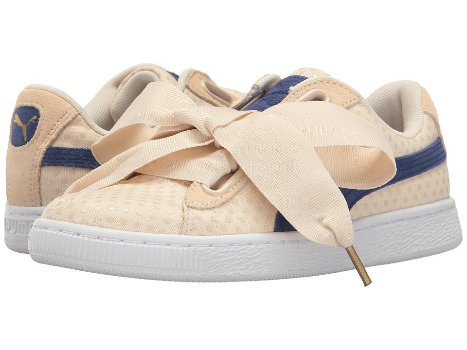 PUMA - Basket Heart Denim (Oatmeal/Twilight Blue) Women's Shoes
