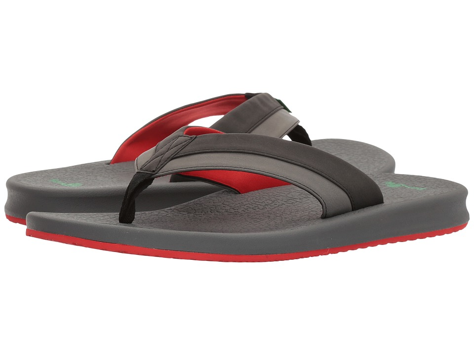 Sanuk - Brumeister (Black/Charcoal/Red) Men's Sandals