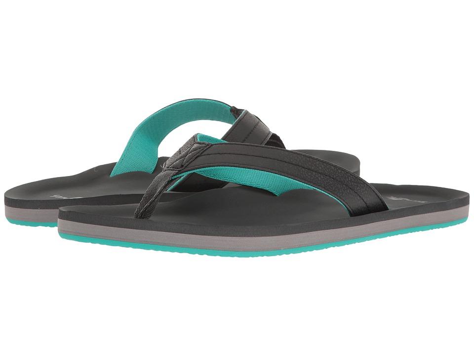 Sanuk - Burm (Dark Charcoal/Sea Green) Men's Sandals