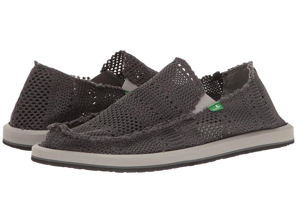 Sanuk - Yew-Knit (Charcoal) Men's Slip on Shoes