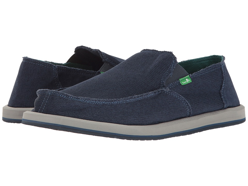 Sanuk - Vagabond Mesh (Navy) Men's Slip on Shoes